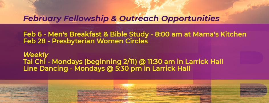 February Fellowship & Outreach Opportunities_Banner