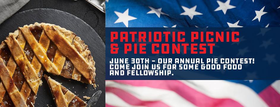 Patriotic Picnic & Pie Contest_Banner