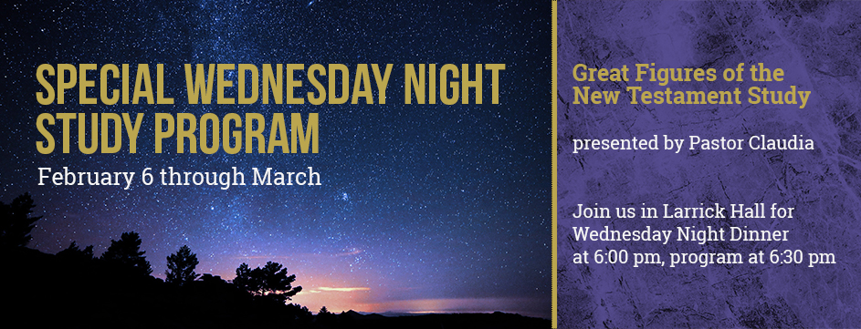 Special Wednesday Night Study Program_Banner