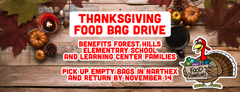 Thanksgiving Food Bag Drive_Banner
